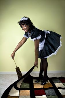 Free Smiling Maid Stock Photography - 6457842