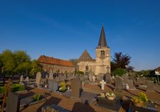 Graveyard On A Sunny Day And Blue Sky Stock Photography