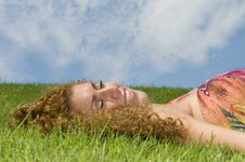 Free Woman In The Grass Royalty Free Stock Image - 6458026