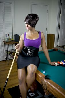 Free Sexy Game Of Pool Stock Images - 6458094