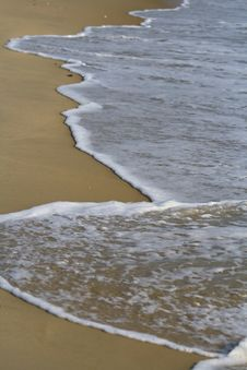 Free Wave On Shoreline At Beach Stock Photos - 6459183