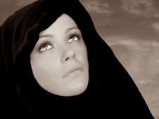 Free Beautiful Woman With Cape Stock Images - 6459364