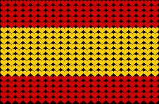 Spain Heart Flag Royalty Free Stock Image