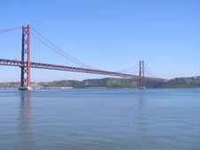 Free Lisbon Suspension Bridge Stock Images - 6459724
