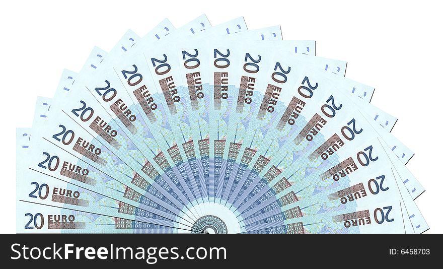 20 Euro Notes Half Circle Template