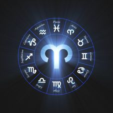 Free Astrology Symbol Aries Light Flare Royalty Free Stock Photos - 64526538
