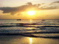 Free Sunrise On Tropical Sea Sand Beach Stock Photos - 64589193