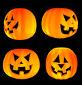 Free Jack-o -lanterns 3d Isolated Stock Photos - 6463173