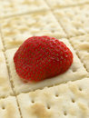 Free Strawberry Half On Sheet Of Crackers Stock Photos - 6468713