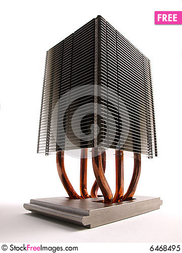 Free CPU Heat Sink Perspective Royalty Free Stock Photo - 6468495