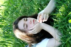 Free Teen Girl In Grass Stock Photo - 6460050