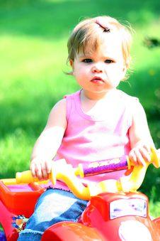 Free Toddler On Toy ATV Royalty Free Stock Photos - 6460598