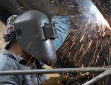 Free Welder Man Royalty Free Stock Photo - 6460655