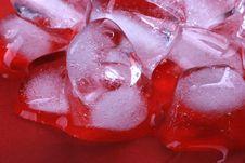 Free Red Ice Cubes Stock Photo - 6461420