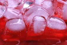 Free Red Ice Cubes Stock Photo - 6461430