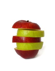 Mixed Apple Isolated On White Stock Image