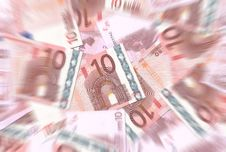 Free 10 Euro Notes Texture Radial Blur Royalty Free Stock Photos - 6462118