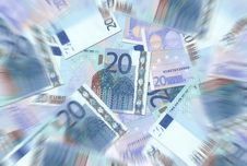 Free 20 Euro Notes Texture Radial Blur Stock Photo - 6462120
