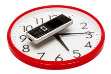 Free Phone And Clock Royalty Free Stock Photos - 6463048