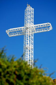 Steel Cross Stock Photo