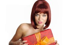 Free Sexy Holding A Gift In Packing Royalty Free Stock Photo - 6463605