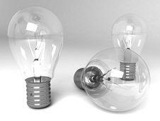 Free Three Dimensional Light Bulbs Stock Photography - 6464022