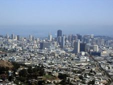Free San Francisco From Twin Peaks Royalty Free Stock Image - 6464056