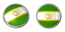 Free Banner Button African Union Royalty Free Stock Image - 6464176