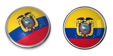 Free Banner Button Ecuador Stock Photo - 6464180