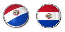 Free Banner Button Paraguay Royalty Free Stock Photography - 6464187
