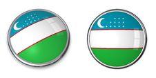 Free Banner Button Uzbekistan Stock Image - 6464201