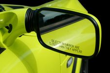 Free Yellow Sports Car Mirror Stock Image - 6465081