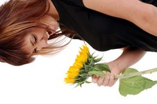 Free Smiling To The Sunflower Stock Photo - 6465500