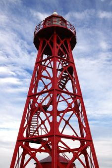 Free Red Iron Lighthouse Stock Photo - 6465890