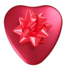 Free Red Heart With Bow Stock Image - 6466271