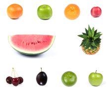 Free Set  Of  Fruits Royalty Free Stock Photos - 6466288