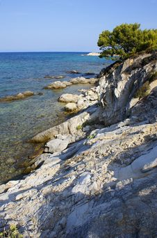 Free Greek Shoreline Royalty Free Stock Photo - 6467095