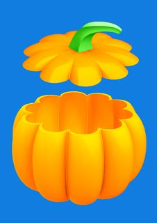 Free Pumpkin 3d Isolated Royalty Free Stock Photos - 6467148