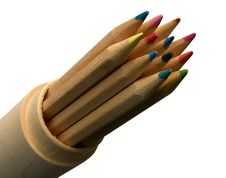 Pencils Into Pencil-case Royalty Free Stock Photography