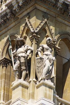 Architectural Detail Of The Vienna City Hall Stock Photos