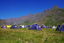 Free Landscape With The Tents Stock Photography - 6468292