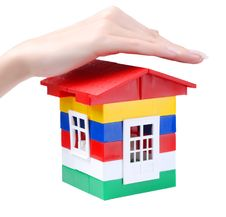Free Hand And Toy Colour House Stock Image - 6468401