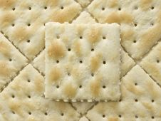 Free Salted Crackers Square Pattern Royalty Free Stock Image - 6468586