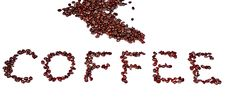 Free Coffee Word In Beans Isolated On White Background Royalty Free Stock Photos - 6468638