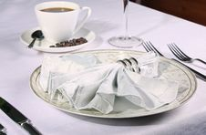 Free Elegant Place Setting With Piping Coffee Stock Photo - 6468700