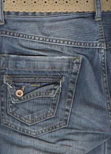 Free Close Up Of Jeans Back Pocket. Royalty Free Stock Photo - 6469915