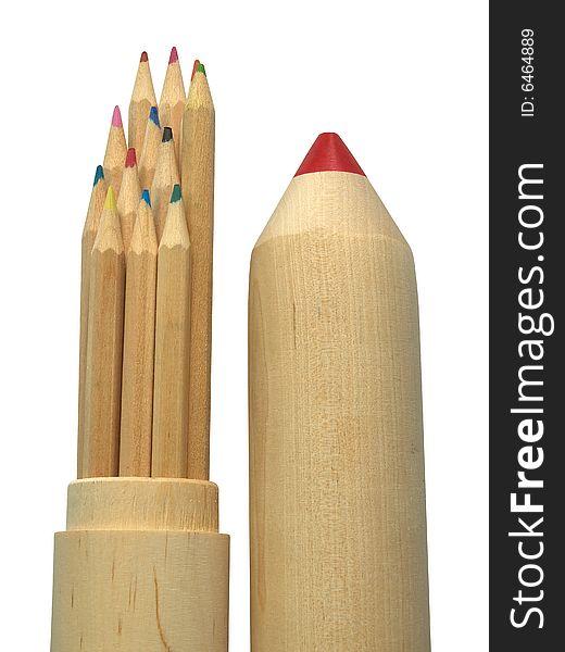 Pencil-case and pencils