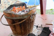 Pork On Fire Stock Images