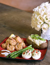 Free Dinner Of Shrimp And Asparagus Stock Images - 6479134