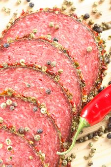 Free Spice And Salami Royalty Free Stock Photos - 6470238